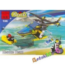 "Конструктор BRICK / Брик серии ""Полиция""  ""Служба спасения"" (аналог LEGO)"